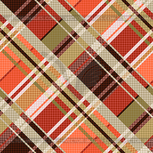 Diagonal tartan seamless texture mainly in brown.