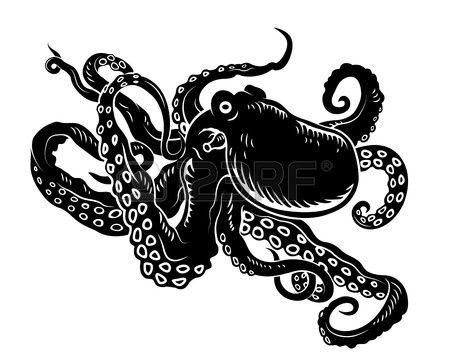 Octopus Silhouette Tattoo.