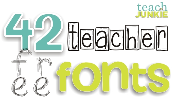 42 Free Fonts for Teachers.