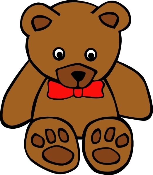 Simple Teddy Bear clip art Free vector in Open office drawing svg.
