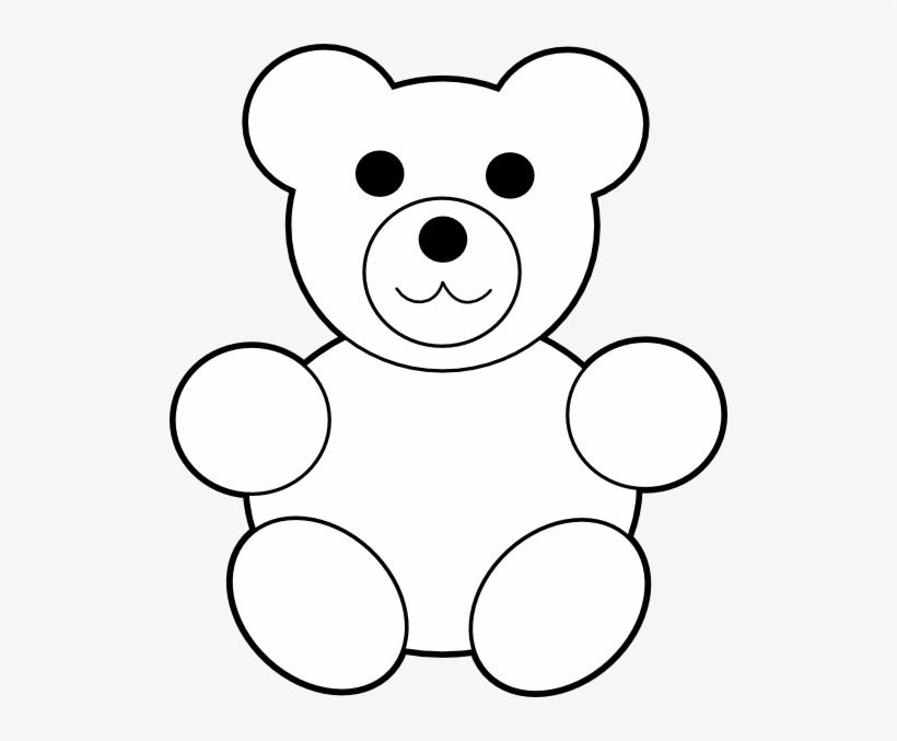 Teddy Bear Clipart Stencil.