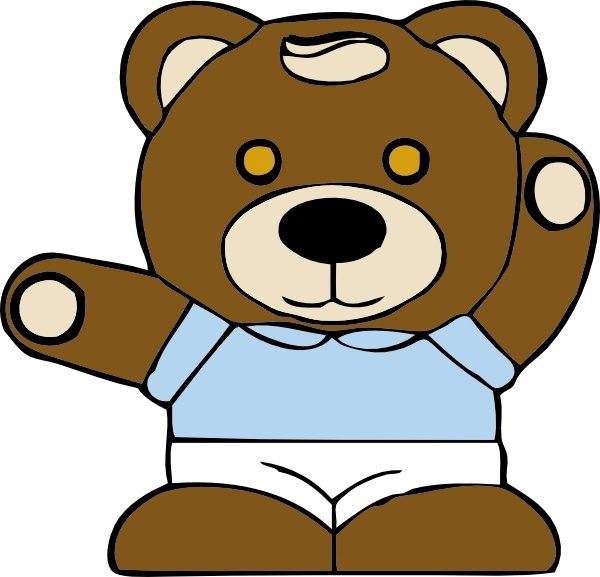 Teddy Bear clip art Free vector in Open office drawing svg ( .svg.