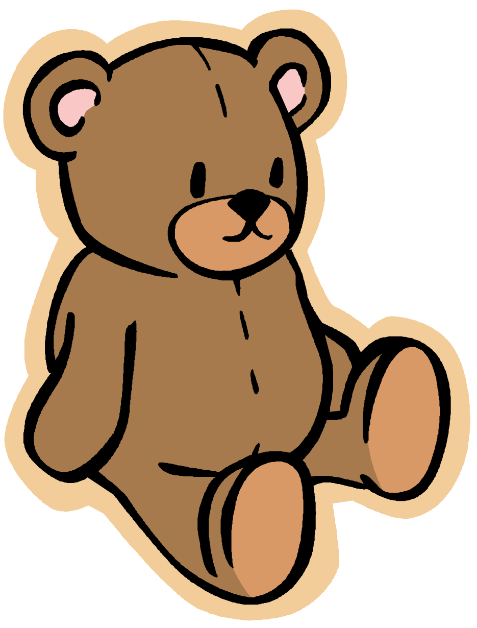 Teddy bear,Clip art,Animal figure,Cartoon,Toy,Bear,Sticker,Brown.