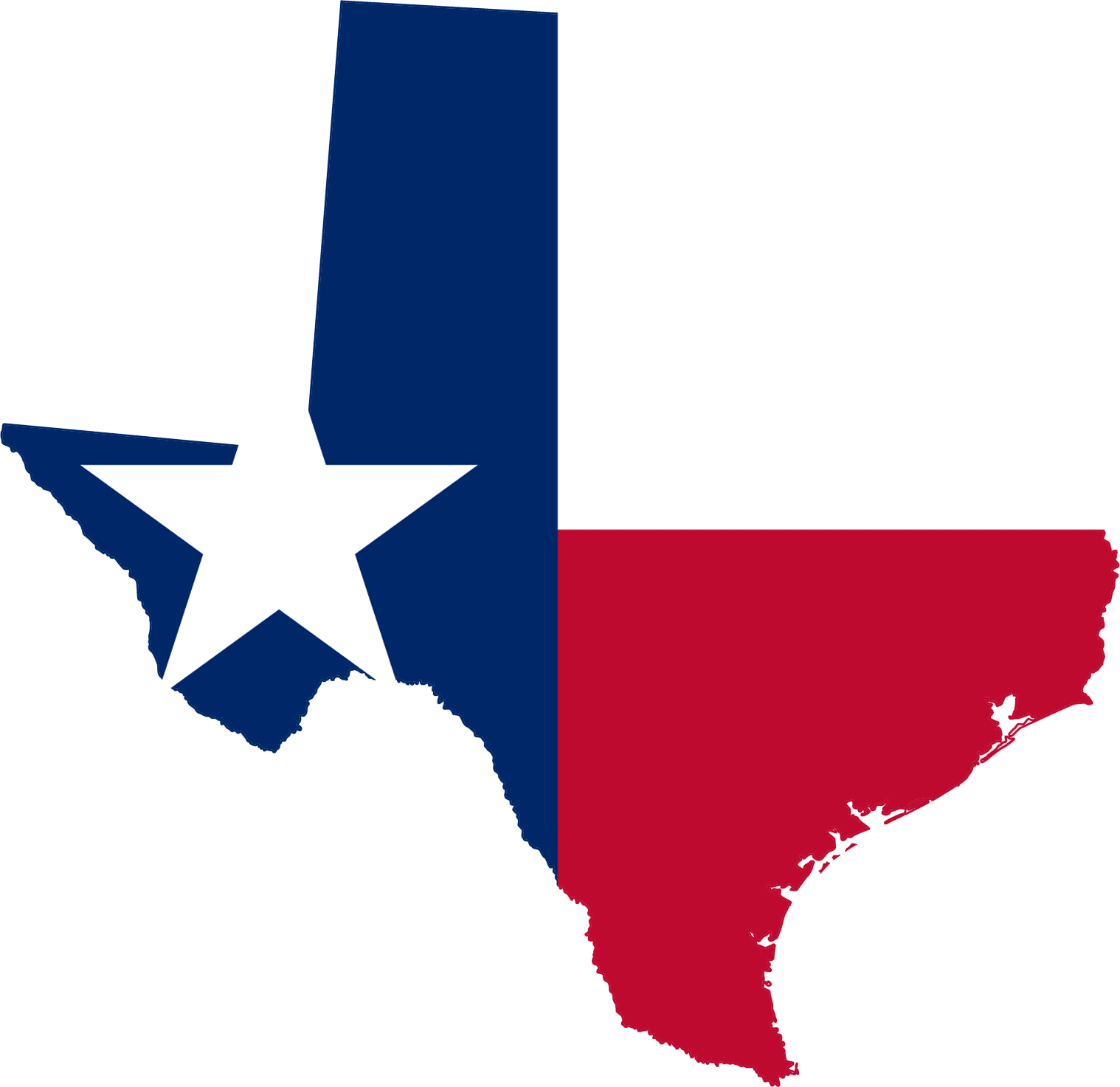 Clipart of Texas Flag free image.