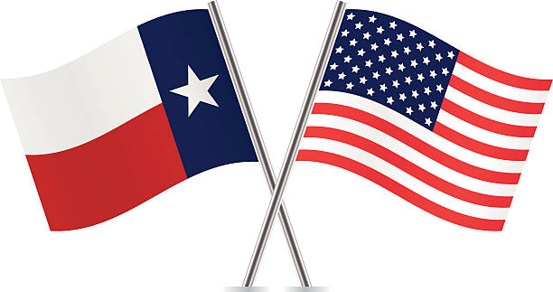 Texas And American Flag Clipart.