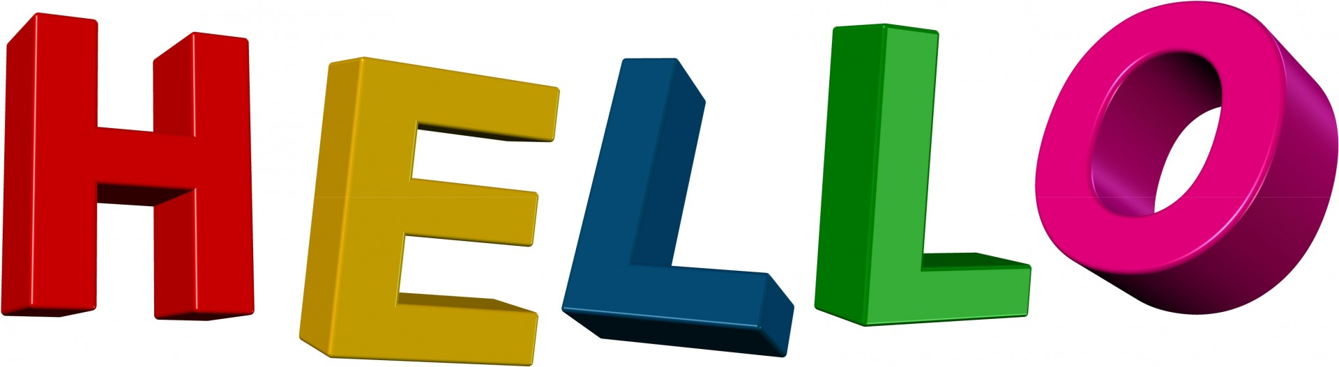 Hello Clip Art Text Free Stock Photo.