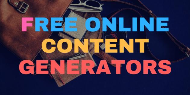 Free Online Content Generators — SEO Content Machine.