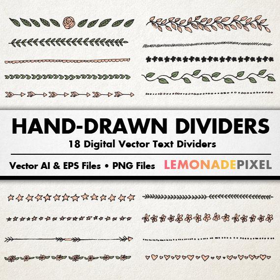 Text Dividers Clip Art.