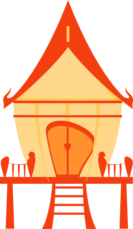 Free Clipart: Thai traditional house.