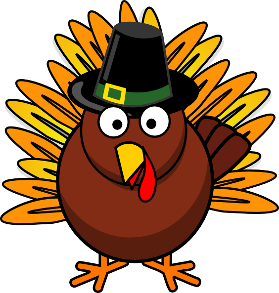 Free Thanksgiving Cartoon Clipart Funny For Kids.