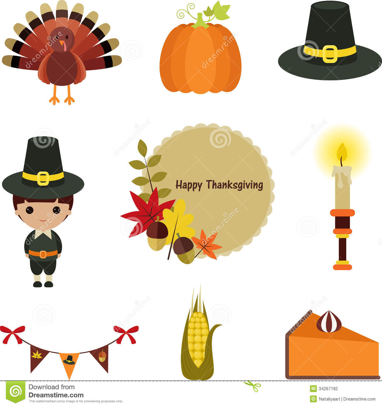 Thanksgiving Cartoon Clipart.
