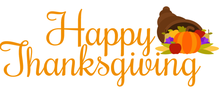71+ Happy Thanksgiving Clipart Free Black and White, Banner, Border.