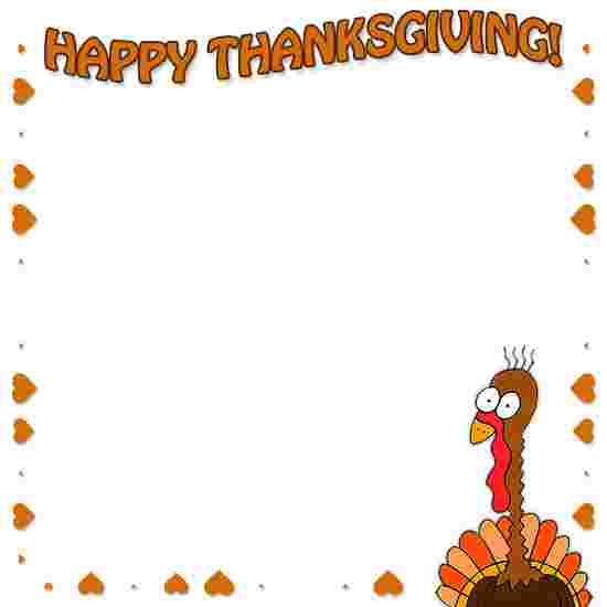 Cliparts Library: Free Thanksgiving Clipart Border.