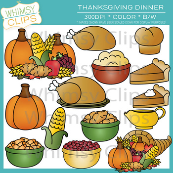 1492 Thanksgiving Dinner free clipart.