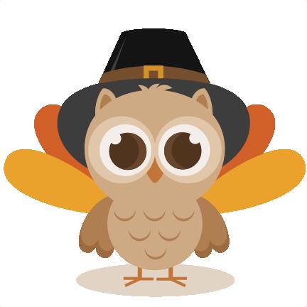 THANKSGIVING OWL CLIP ART.
