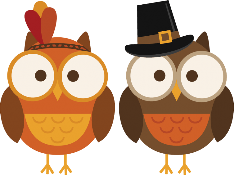 Thankful Owl Cliparts.
