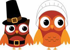 Thanksgiving clip art owls.
