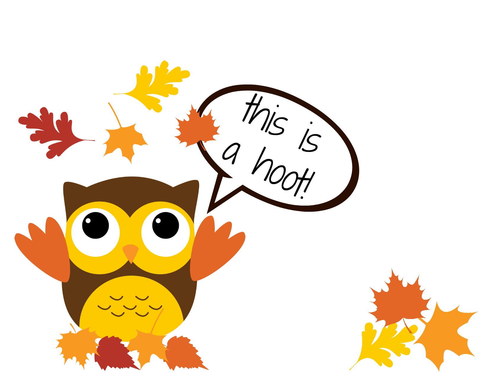 Free Thanksgiving Owl Clipart.