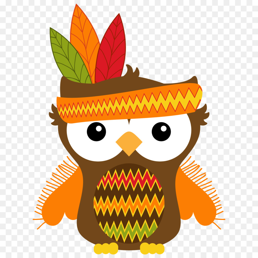 Thanksgiving Owl png download.