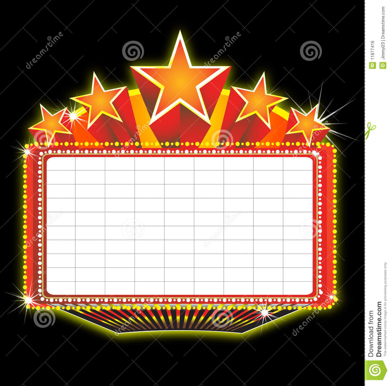 Theater marquee sign stock vector. Illustration of sketches.