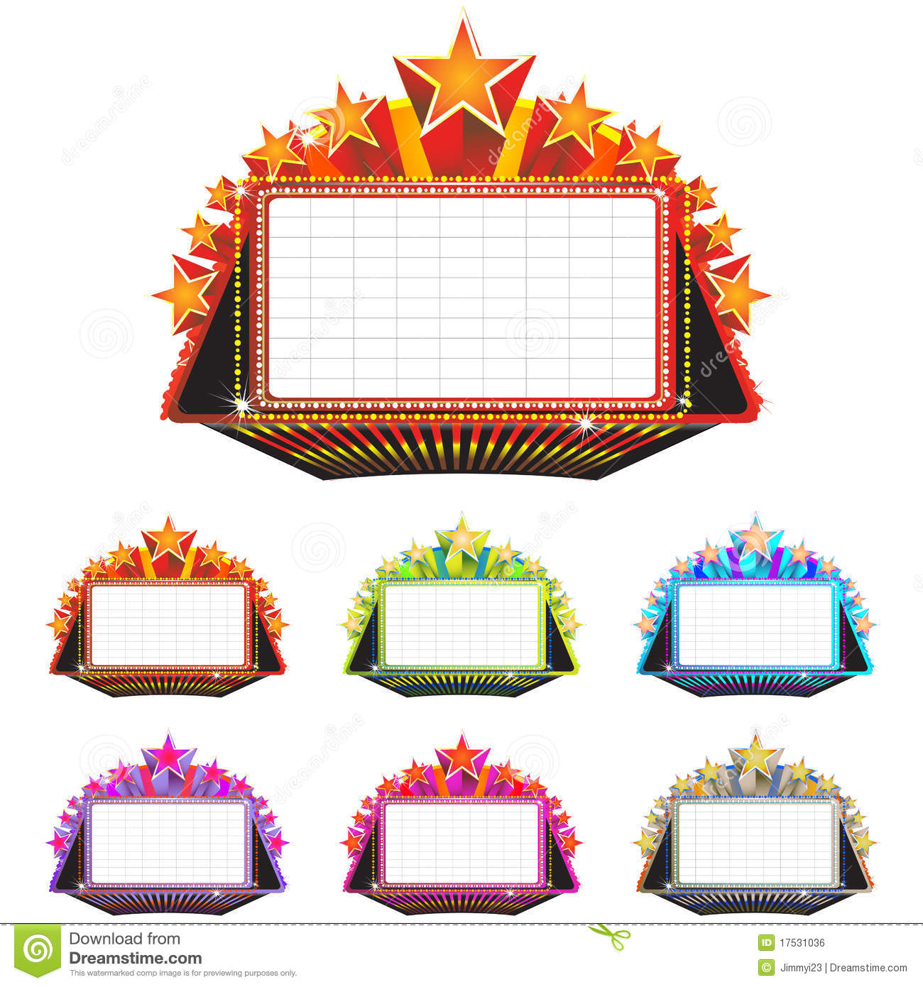 Theater marquee sign stock vector. Illustration of stage.