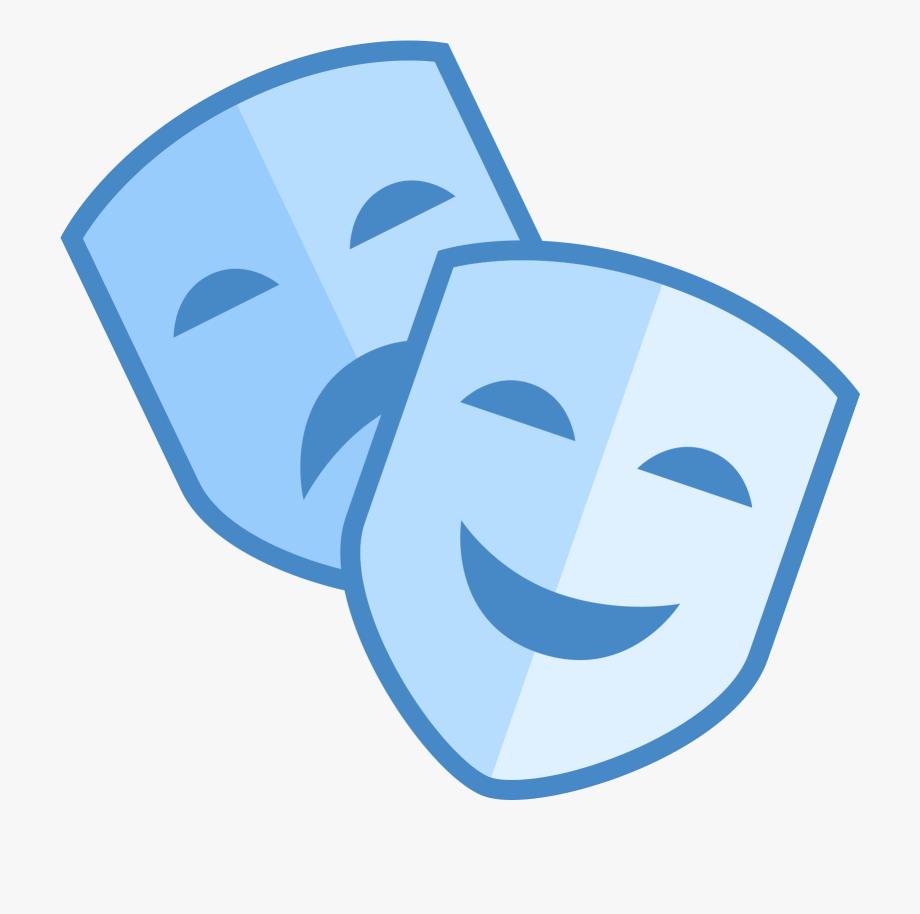 Theatre Clipart Mask Icon.