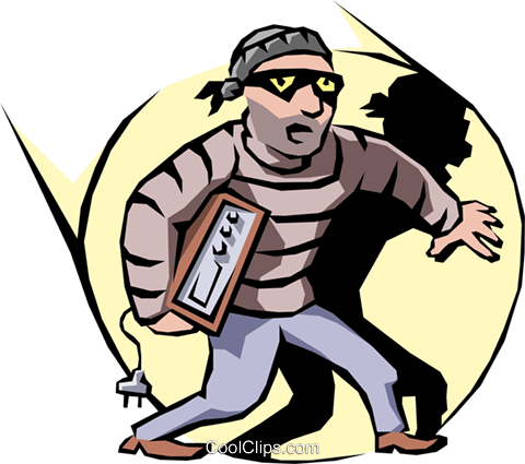 Thief Royalty Free Vector Clip Art illustration.