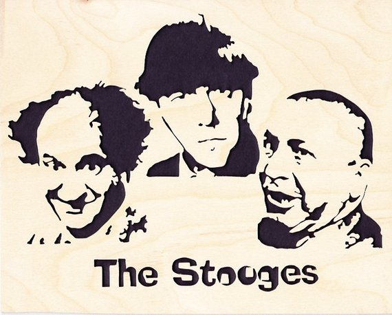 Three Stooges Wood Portrait.