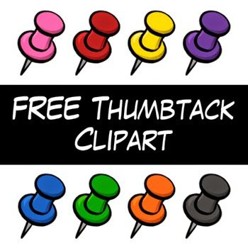 Free Thumbtack Clipart by Digital Classroom Clipart.