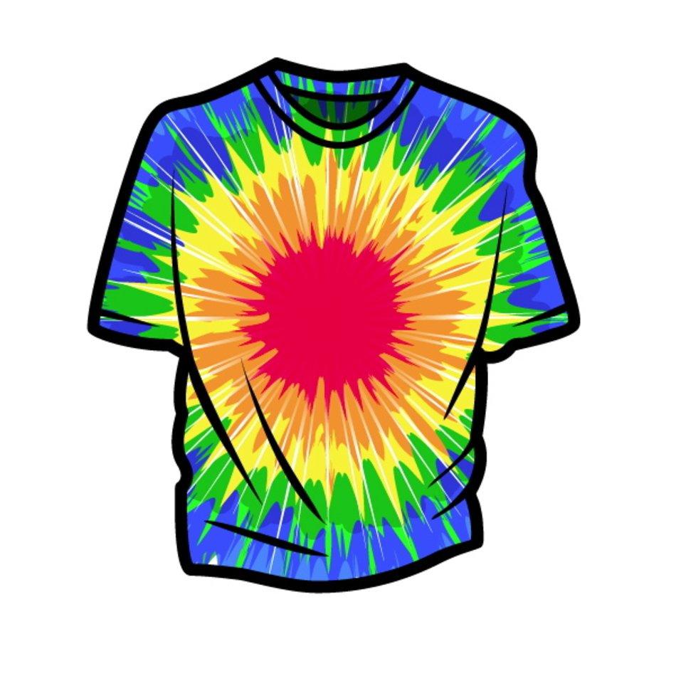 Tie Dye Shirt Clip Art N4 free image.