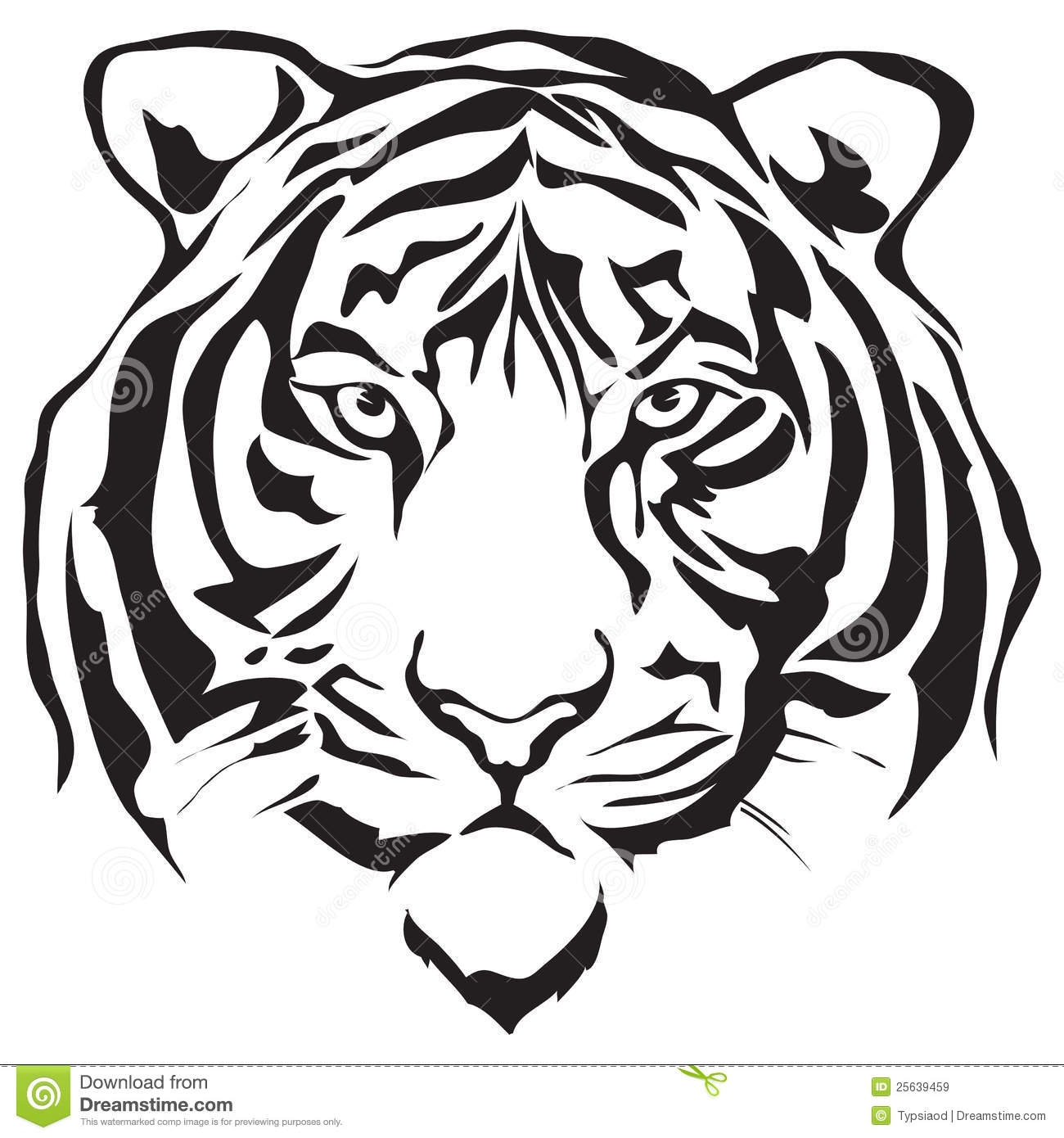 9+ Tiger Clipart Black And White.