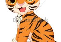 cute tiger cub clipart.