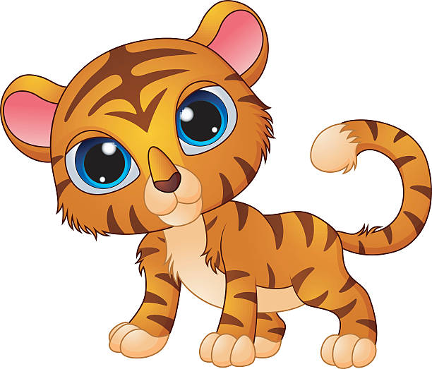 Best Tiger Cub Illustrations, Royalty.