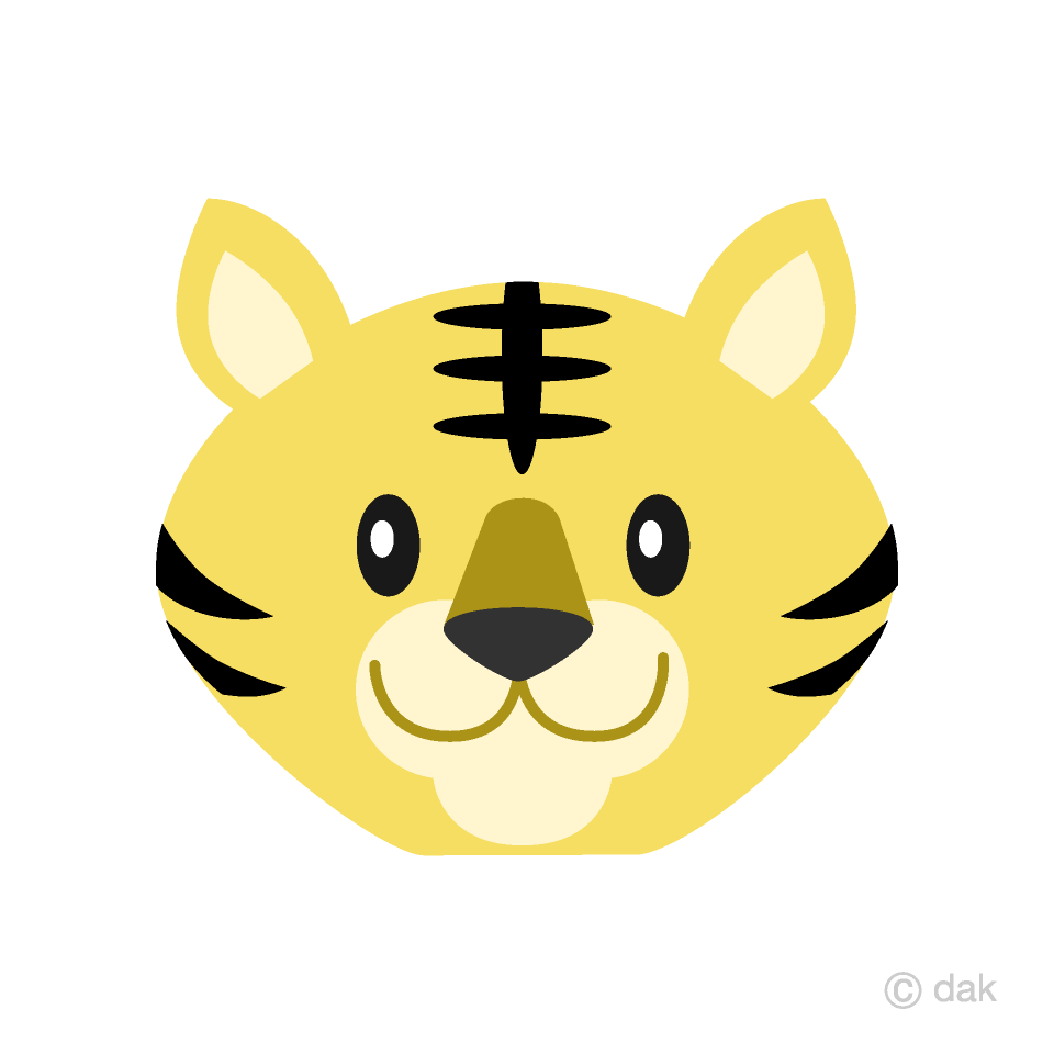 Free Simple Tiger Face Clipart Image|Illustoon.