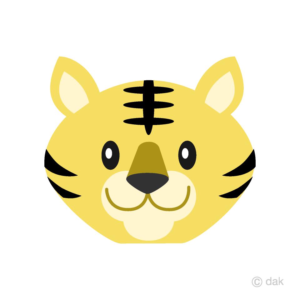 Free Simple Tiger Face Clipart Image|Illustoon.
