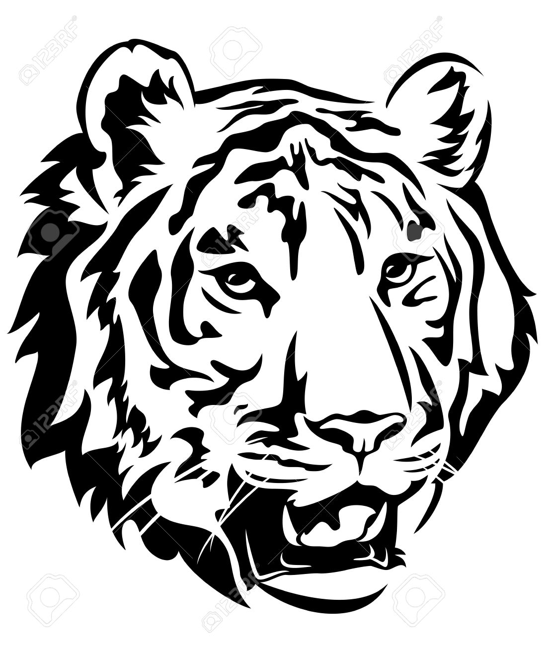 4,049 Tiger Face Stock Vector Illustration And Royalty Free Tiger.