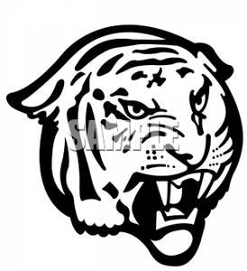 Tiger Head Clip Art.