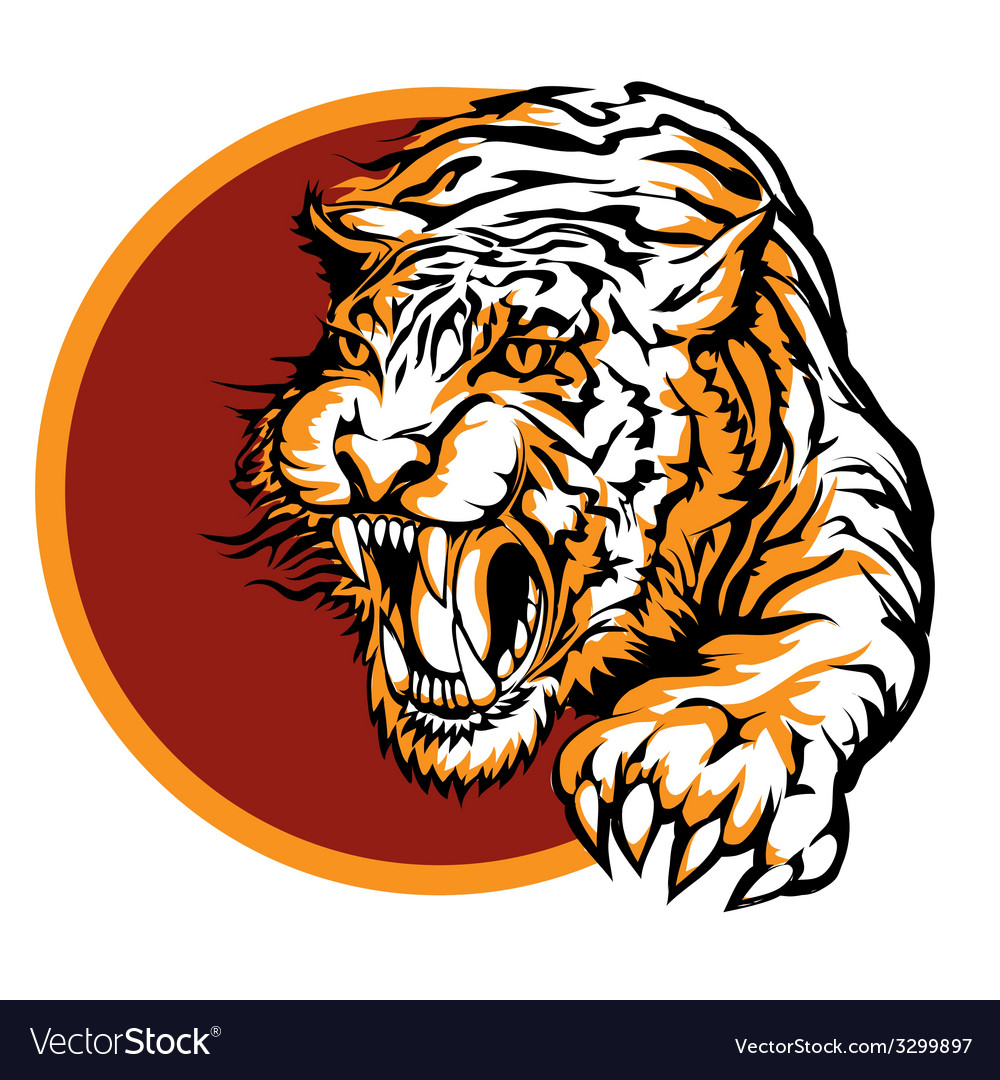 Roaring tiger logo design.