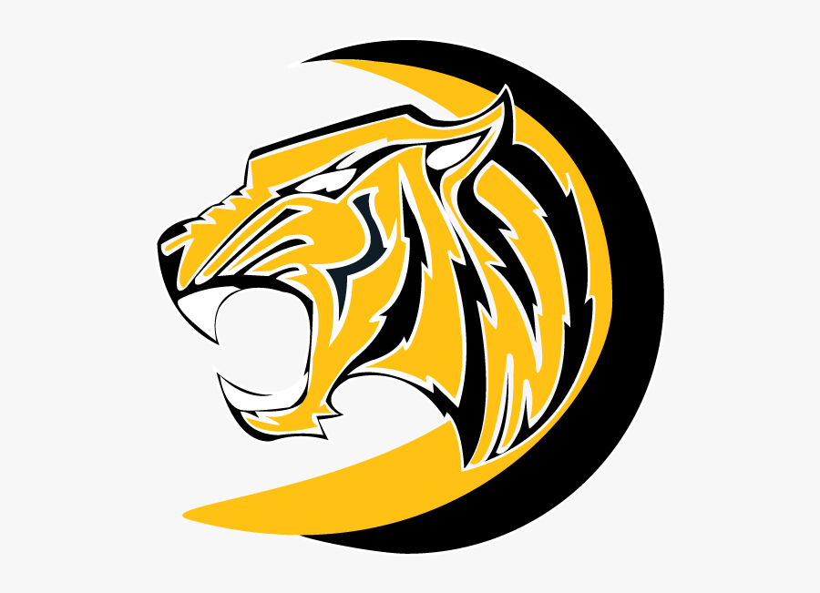 Transparent Tiger Mascot Clipart.