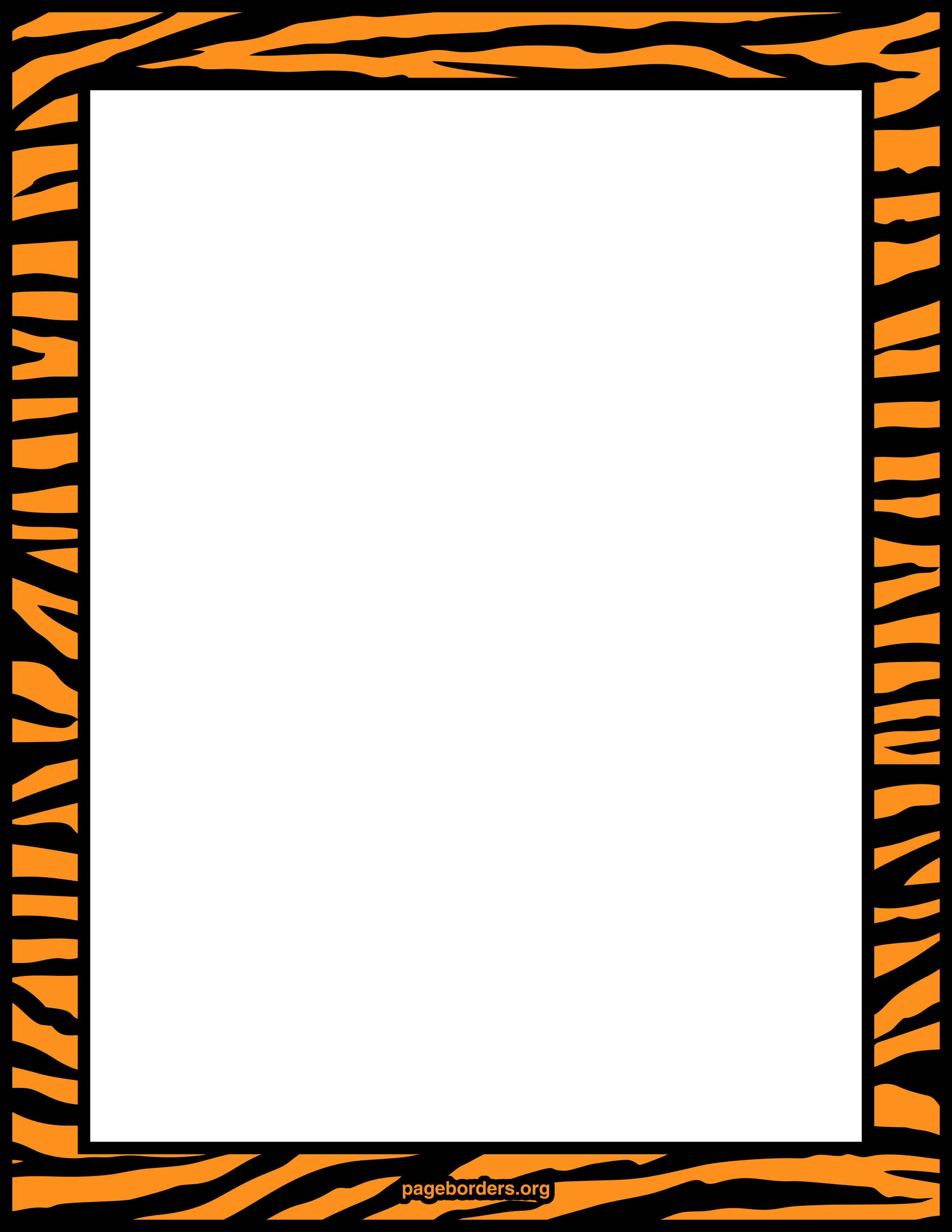 Tiger print border frame..