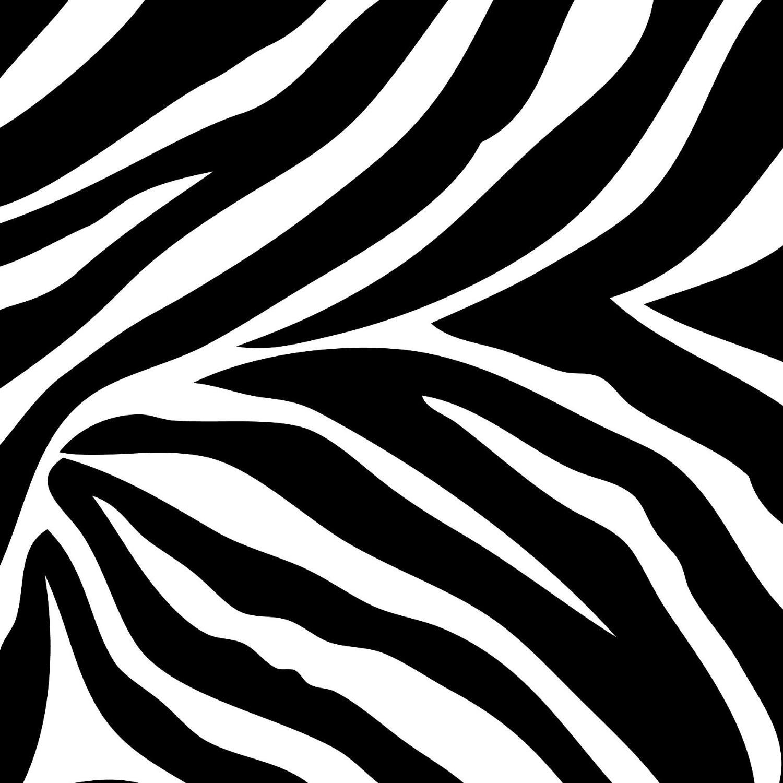 Zebra Print Stencil Printable.