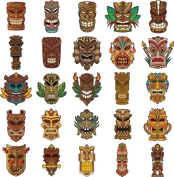 Best Tiki Illustrations, Royalty.