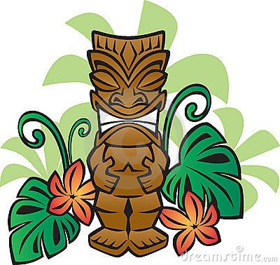 Hawaiian Tiki Clip Art.