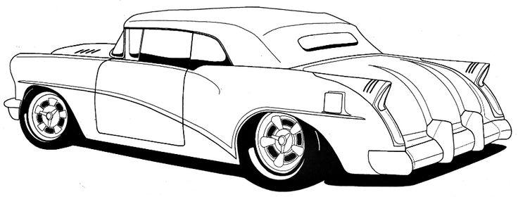 Muscle Car Hot Rod Drawings.