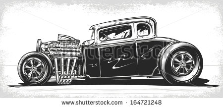 Hot Rod Stock Images, Royalty.