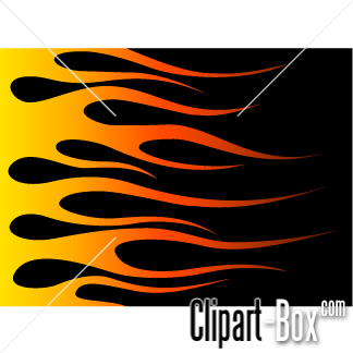 CLIPART HOT ROD FLAMES.