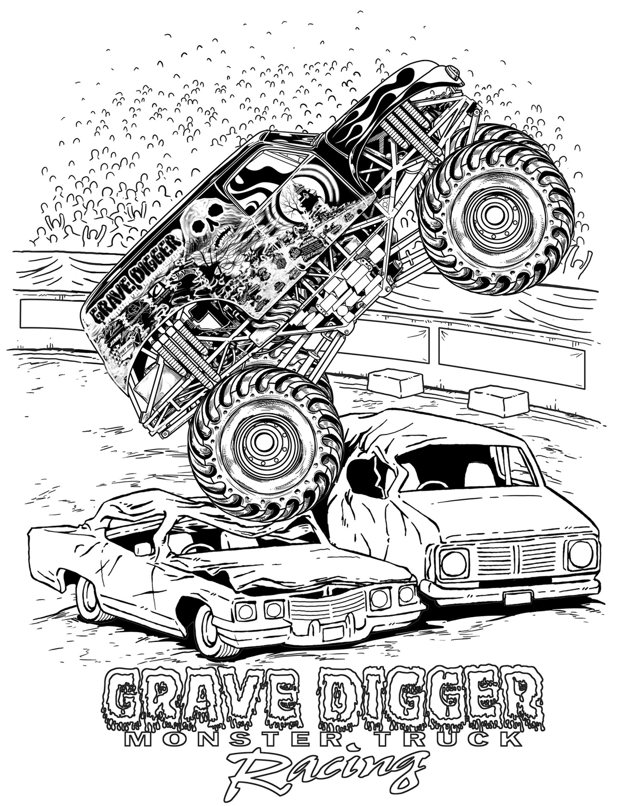 Classic Hot Rod Car Coloring Page Printable.