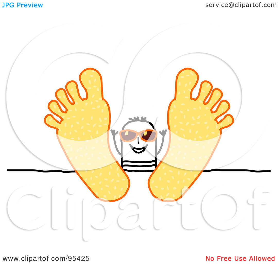 Foot Person Up Clipart.