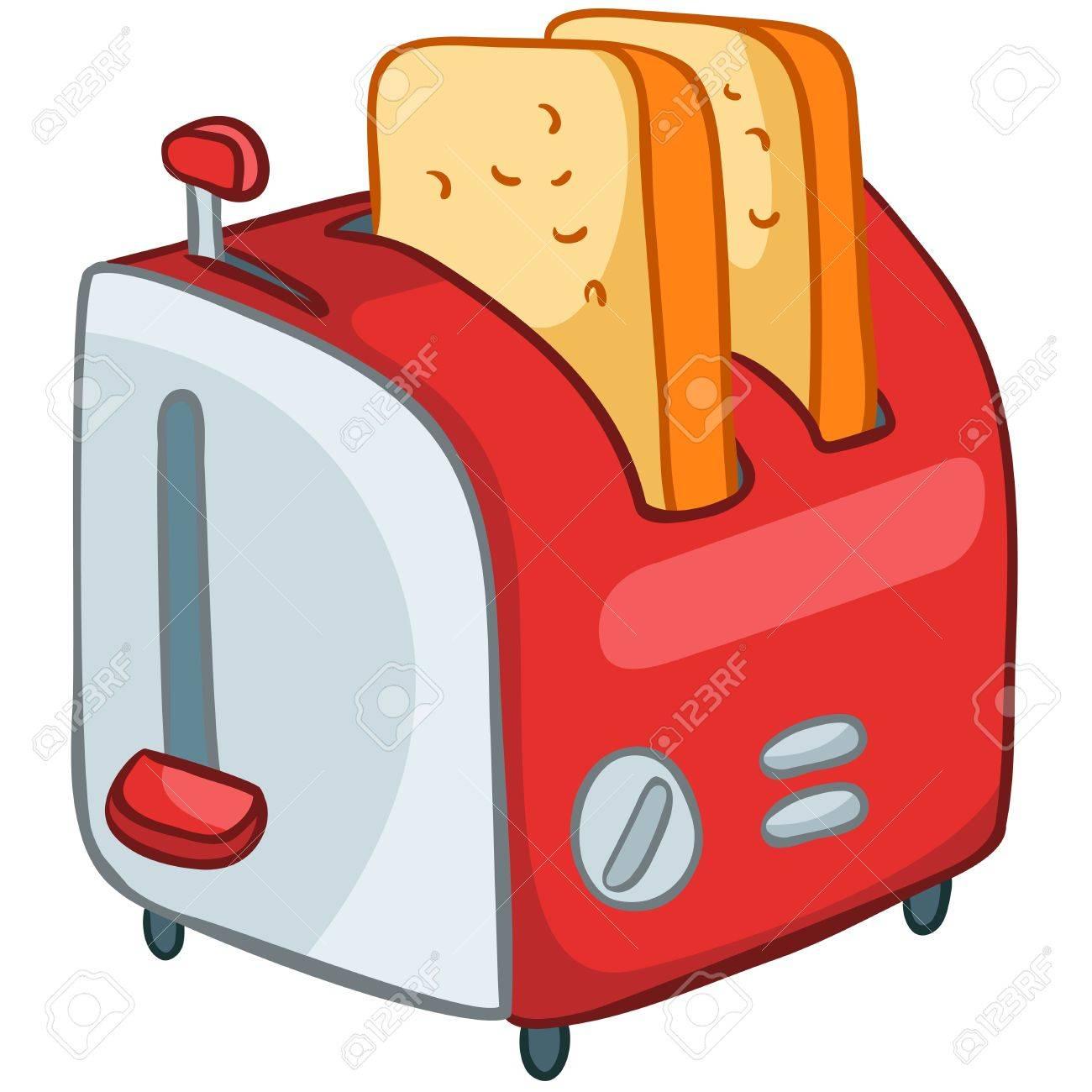 Cartoon Home Kitchen Toaster.