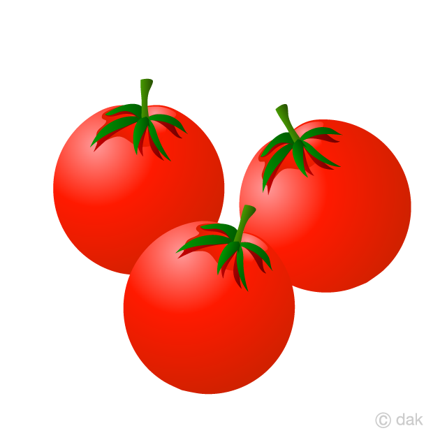 Free Cherry Tomatoes Clipart Image|Illustoon.